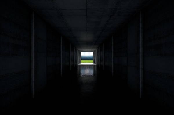 Escape Digital Art - Sports Stadium Tunnel by Allan Swart