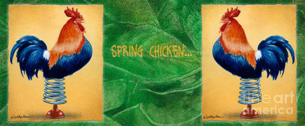 Painting - Spring Chicken... by Will Bullas