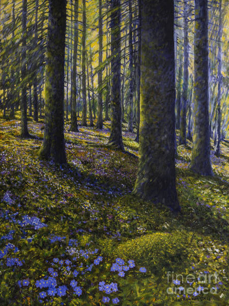 Mossy Wall Art - Painting - Spring Forest by Veikko Suikkanen