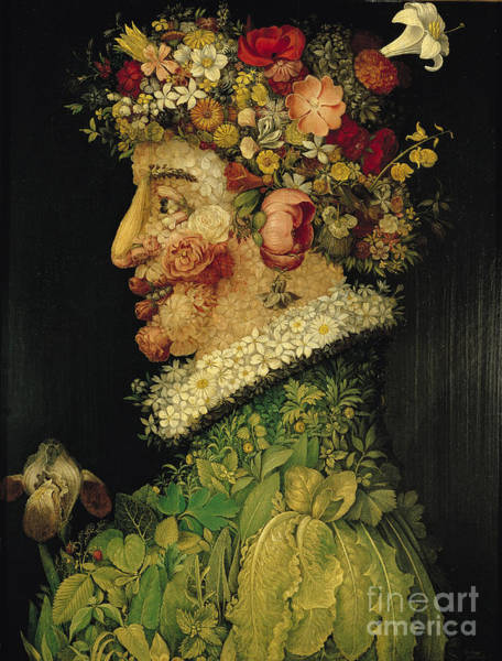 Allegory Wall Art - Painting - Spring by Giuseppe Arcimboldo