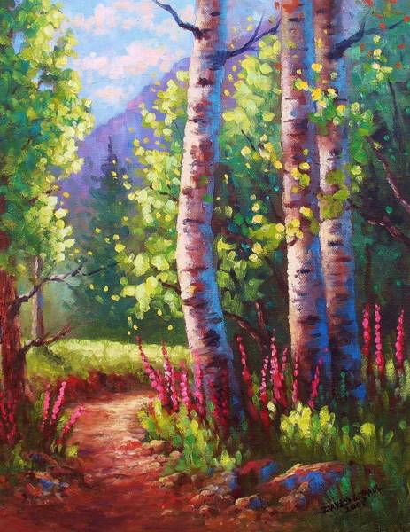 Wall Art - Painting - Spring Path by David G Paul