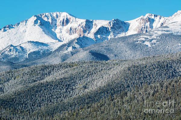 Photograph - Spring Snow On Pikes Peak Colorado by Steve Krull