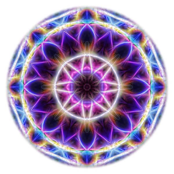 Digital Art - Spring Energy Mandala 2 by Beth Sawickie