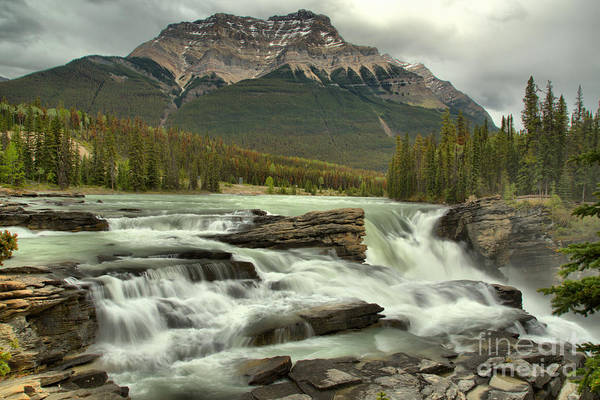 Photograph - Spring 2018 Storms Over Athabasca Falls by Adam Jewell