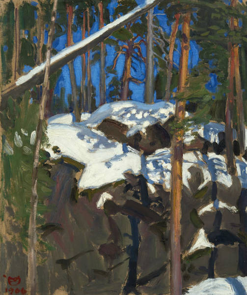 Painting - Spring Sun At Konginkangas by Akseli Gallen-Kallela
