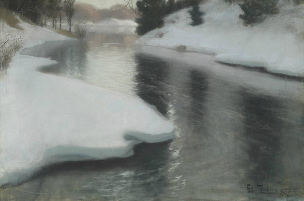 Pastel - Spring Thaw by Frits Thaulow