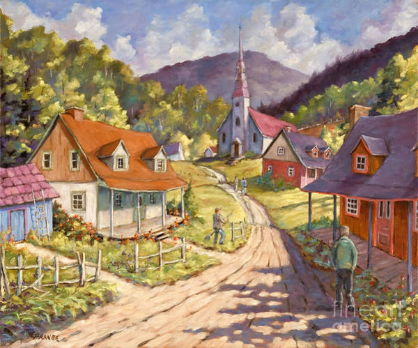 Wall Art - Painting - Spring Time Sun by Richard T Pranke