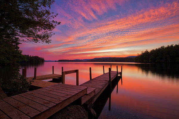 Photograph - Squam Lake Sunset by Robert Clifford