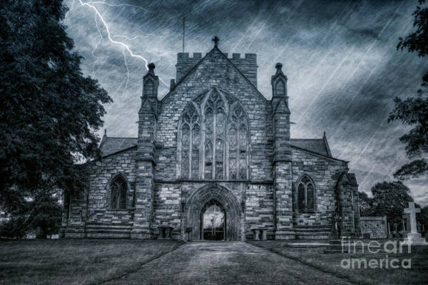Mixed Media - St Asaph Cathedral by Ian Mitchell
