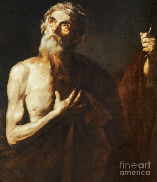 Disciple Wall Art - Painting - St Bartholomew by Jusepe de Ribera