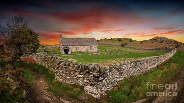 Wall Art - Photograph - St Celynnin Church Sunset by Adrian Evans