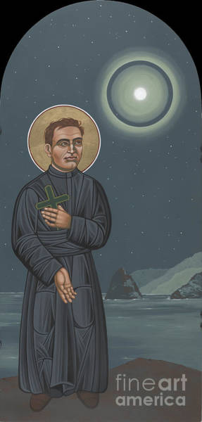 Painting - St Damien Of Moloka'i 235 by William Hart McNichols