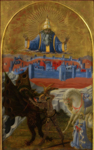 Wall Art - Painting - St. George Slaying The Dragon by Paolo Uccello