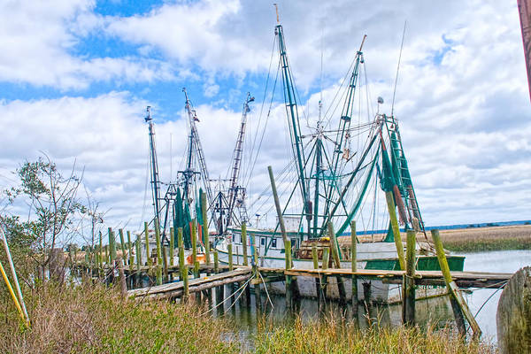 Photograph - St. Helena Shrimp Boats  by Scott Hansen