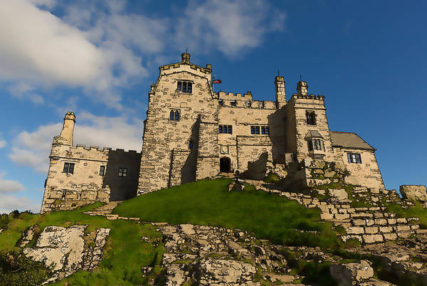 West Bay Digital Art - St Michaels Mount Marazion Cornwall England Uk Medieval Castle And Church On An Island  by Michael Charles