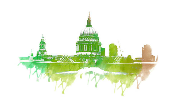 Millenium Photograph - St Paul's Cathedral by Martin Newman