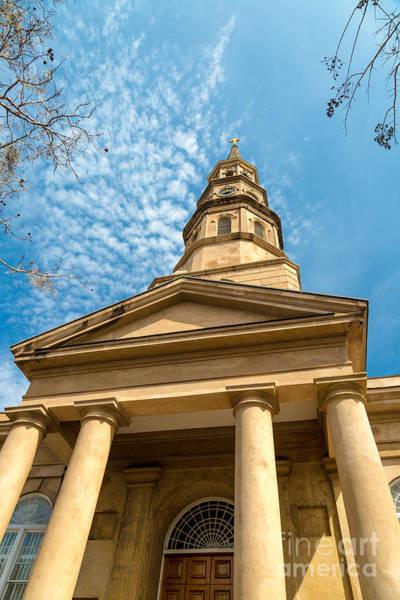 Photograph - St. Philip's Episcopal Church Steeple Charleston Sc by Donnie Whitaker