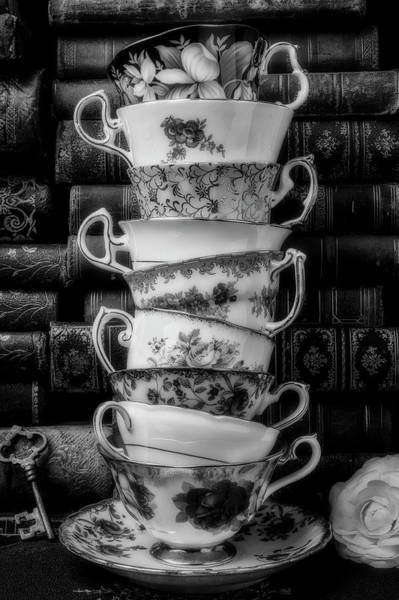 Wall Art - Photograph - Stacked Tea Cups by Garry Gay