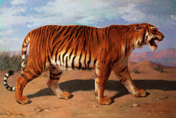 Wall Art - Painting - Stalking Tiger by Rosa Bonheur