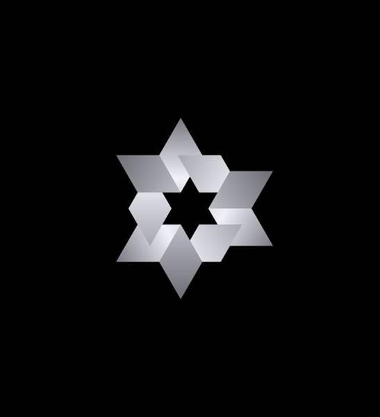Digital Image Digital Art - Star From Cubes by Pelo Blanco Photo