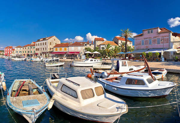 Starigrad Photograph - Stari Grad Waterfront Summer View by Brch Photography