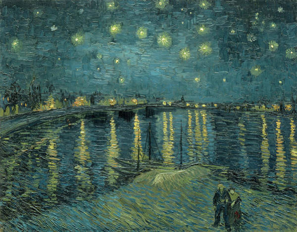 Wall Art - Painting - Starry Night Over The Rhone 1888 by Vincent Van Gogh