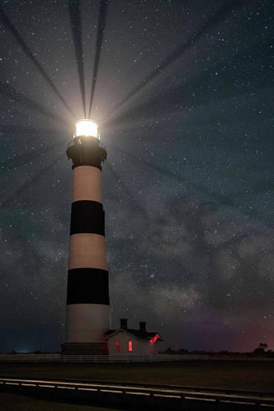 Wall Art - Photograph - Stars Over Bodie Lighthouse by Robert Fawcett