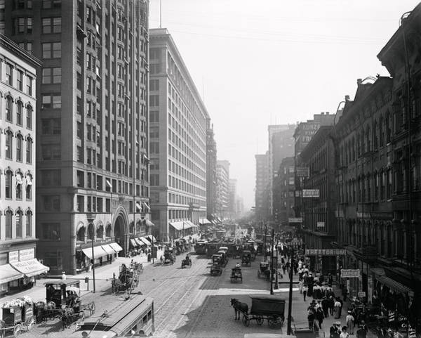 Wall Art - Photograph - State Street Chicago 1900 by Daniel Hagerman
