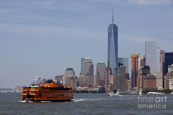 Wall Art - Photograph - Staten Island Ferry - New York City, Lower Manhattan by Anthony Totah