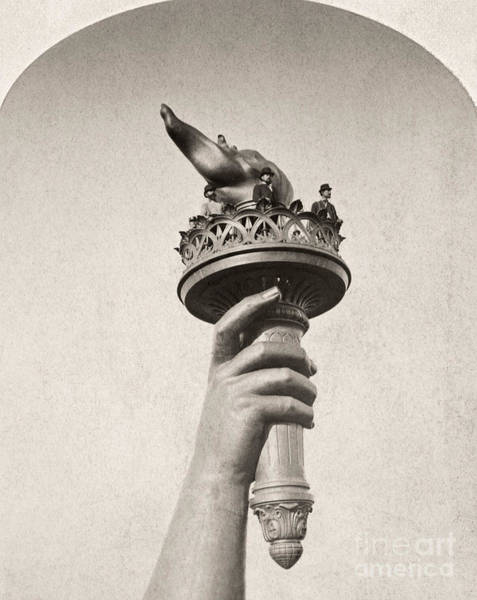 Photograph - Statue Of Liberty, 1876 by Granger