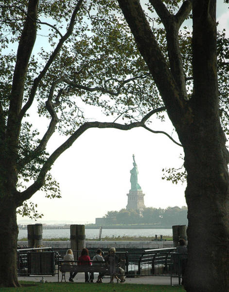 Photograph - Statue Of Liberty From Ellis Island by Frank Mari