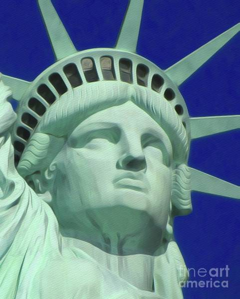 City Landscape Wall Art - Painting - Statue Of Liberty by John Springfield