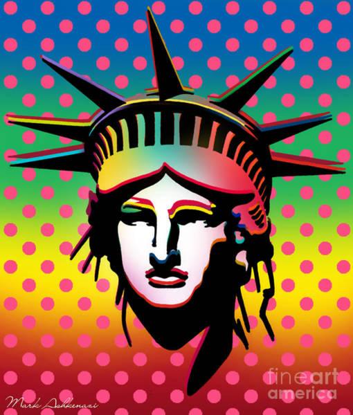 Wall Art - Painting - Statue Of Liberty by Mark Ashkenazi