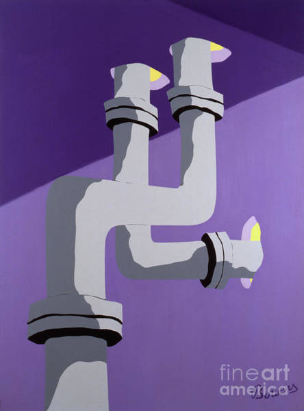 Painting - Steam Pipes by John Bowers