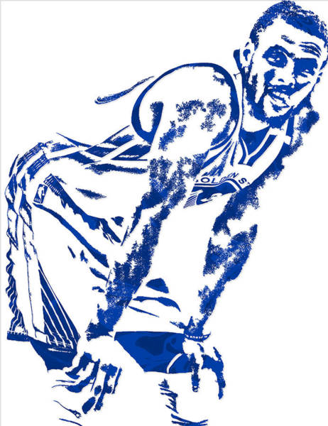 Golden Mixed Media - Stephen Curry Golden State Warriors Pixel Art 4 by Joe Hamilton