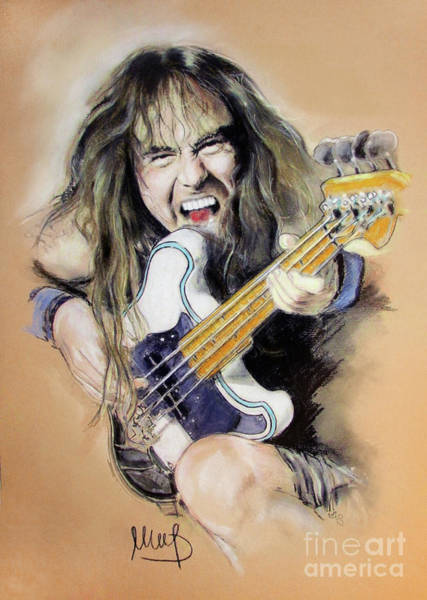 Maiden Wall Art - Painting - Steve Harris by Melanie D