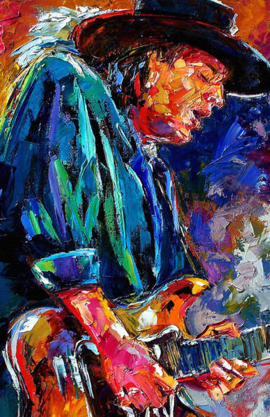 Rock Painting - Stevie Ray Vaughan by Debra Hurd