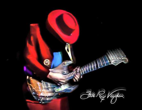 Digital Art - Stevie Ray Vaughan - Texas Flood by Glenn Feron