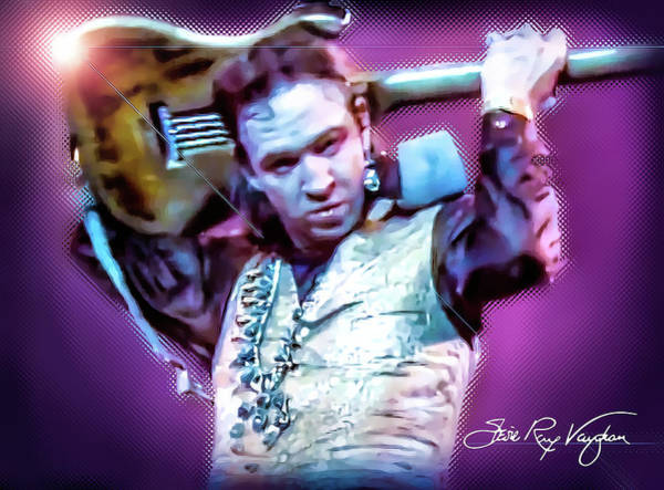 Digital Art - Stevie Ray Vaughan - Love Struck Baby by Glenn Feron
