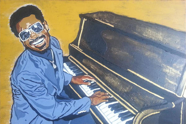 Painting - Stevie Wonder by Rachel Natalie Rawlins