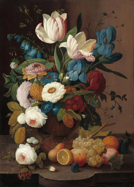 Painting - Still Life, Flowers And Fruit by Severin Roesen