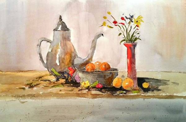 Painting - Still Life by Larry Hamilton