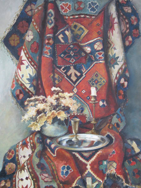 Painting - Still-life With An Old Rug by Tigran Ghulyan