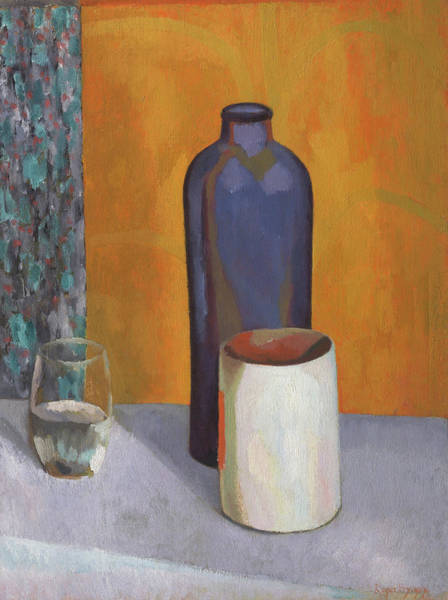 Painting - Still Life With Blue Bottle by Roger Fry