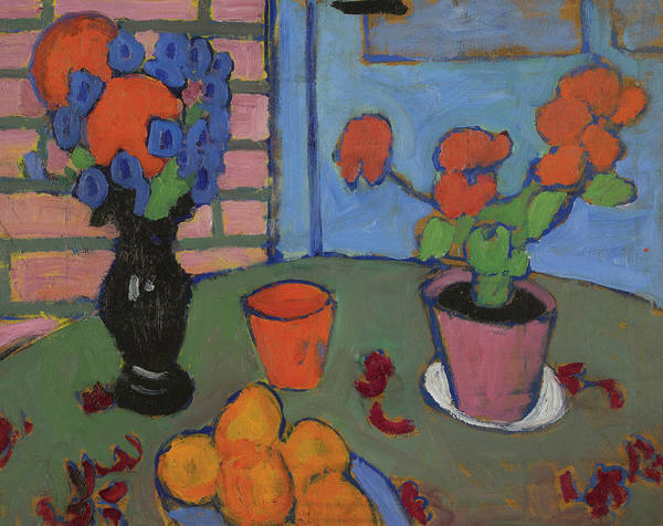 Painting - Still Life With Flowers And Oranges by Alexej von Jawlensky