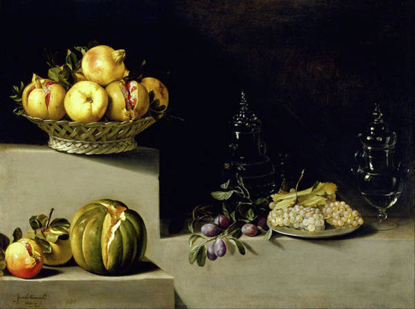 Painting - Still Life With Fruit And Glassware by Juan van der Hamen