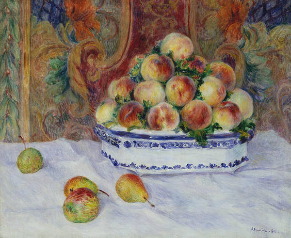 Painting - Still Life With Peaches by Auguste Renoir