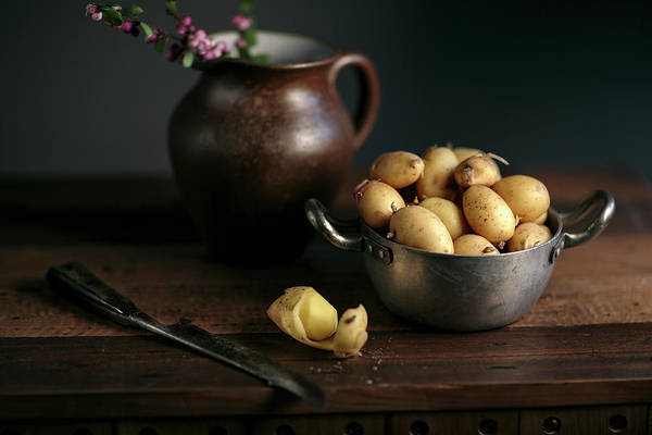 Wood Planks Photograph - Still Life With Potatoes by Nailia Schwarz