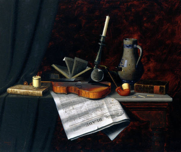 Toledo Painting - Still Life With The Toledo Blade by William Michael Harnett