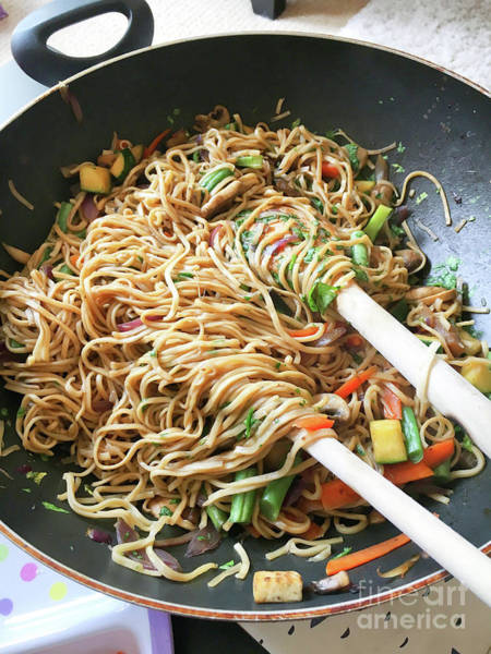 Asian Food Photograph - Stir Fry Noodles by Tom Gowanlock